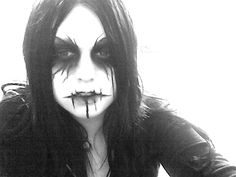 Halloween Contacts, Halloween Face Makeup, Black Metal, Heavy Metal, Black Contact Lenses, Punk Guys, Real Costumes, Purim Costumes, White Face Paint