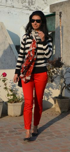 Striped and Red