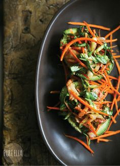 Kimchi Zen Salad in Avocado Shells – Gluten-free and Vegan // Pure Ella for Tasty Yummies