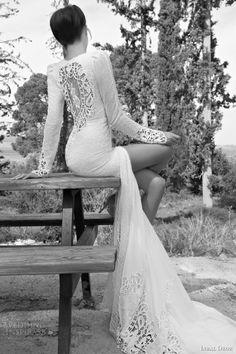 inbal dror bridal 2013 long sleeve wedding dress illusion portrait back slit...omg im in love