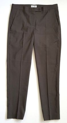 Brunello cucinelli womens pants trousers 100% wool gray size 2 #BrunelloCucinelli #CaprisCropped #Career