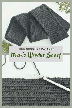 Men's Winter Scarf Free Crochet Pattern Hello, how are you today? Welcome to About Crochet. We hope you are very well and looking forward to a new Free Crochet Pattern or Tutorial. Men Crochet Scarf Pattern Free, Crochet Mens Scarf, Crochet Scarf For Beginners, Slip Stitch Crochet, Single Crochet Stitch, Crochet Scarves For Men, Scarf Patterns, Free Pattern, Knitting Patterns