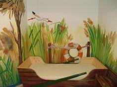 www.elakaras.eu, dětský pokoj pro holčičku, malba na stěnu