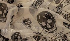 Alexander McQueen Classic Skull Scarve