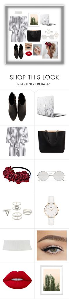 """""""WOMEN"""" by beta13-04 on Polyvore featuring moda, Alexander Wang, Love Couture, Linda Farrow, Charlotte Russe, Daniel Wellington, Lime Crime y Wilder California"""