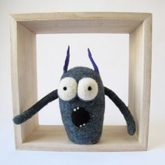 Felt Monster with Horns by CraftAlternative on Etsy, $35.00