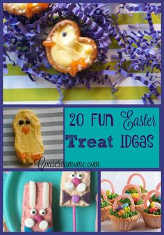 Here's a fun round up of 20 Fun Easter Treat ideas! Easter treats 20 Easter Treat Ideas - A round up of delicious & Creative treat ideas Spring Recipes, Easter Recipes, Holiday Treats, Holiday Fun, Best Dessert Recipes, Dessert Ideas, Spring Party, Party Desserts, Easter Treats
