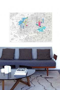 OMY Paris Colouring Poster | The Kid Who via @babyccinokids