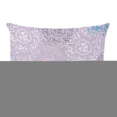 Frozen Burst Lumbar Pillow