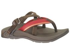 $74.99-$95.00 Chaco Hipthong Two Ecotread Sunset 12 Womens Sandals - Comfort, performance & ecological all combine in the Women's Chaco Hipthong Two Ecotread! This sandal offers the slip-on convenience of a flip flop combined with performance-oriented features and an EcoTreadTM outsole, made of recycled content. It also has new stretch polyester crossing straps that makes the Hipthong Two a casual ...