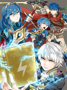 Robin, Lucina, Ike, and Marth