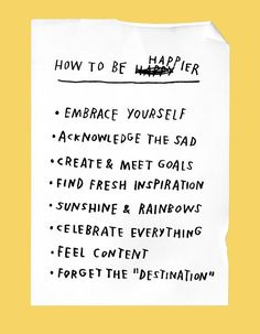 How to be Happier