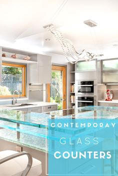 Nothing quite says cool and contemporary like glass counters. Click through to learn more about this upscale home product.