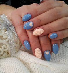 4. Unghii cu model sweater Sweater nail art este probabil cel mai - Cele mai frumoase 15 modele de manichiura pentru iarna