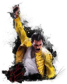 freddie mercury QUEEN on Behance Queen Freddie Mercury, Tatouage Freddie Mercury, Freddie Mercury Tattoo, Fred Mercury, Freddie Mercuri, Tattoos For Women On Thigh, Queen Drawing, Simpsons, Rock Poster