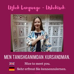 "Uzbek ""Nice to meet you."" ; Usbekisch ""Es freut mich Sie kennenzulernen.""  #uzbeklanguage #usbekisch #learnuzbek #lerneusbekisch Nice To Meet, Frame, Home Decor, Getting To Know, Picture Frame, Decoration Home, Room Decor, Frames, Home Interior Design"