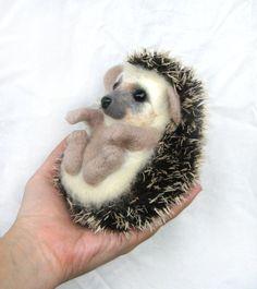 hedgehog!!!!! by GladOArt on etsy