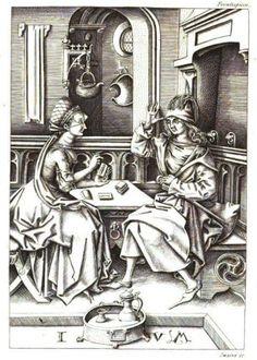 Cartomancie, gravure sur bois