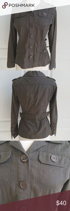 Cabi Safari Style Jacket Midweight, rich dark army green color, great construction and tons of details. In excellent condition,  has been lovingly cared for in smoke free home. CAbi Jackets & Coats Blazers