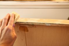The Farmer's Nest: How to get old wooden drawers to glide easily {DIY}