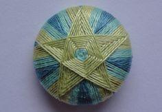 Dorset pentagonal star button