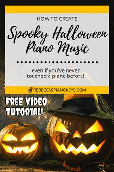 How to Play Piano - Learn Piano - Want to create your own spooky Halloween piano music? Even if you've never touched a piano before! Watch this video tutorial to learn how! Spooky Music, Halloween Music, Spooky Halloween, Piano Keys, Piano Music, Broken Chords, Piano Player, Pumpkin Carving, Creativity