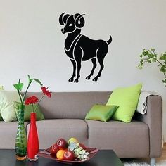 WALL VINYL STICKER DECAL ART DESIGN Aries Horoscope Star Sign Zodiac SV2328