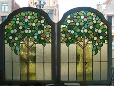 would be nice little doors leading to a garden Making Stained Glass, Stained Glass Designs, Stained Glass Panels, Stained Glass Projects, Stained Glass Patterns, Leaded Glass, Beveled Glass, Stained Glass Art, Mosaic Glass