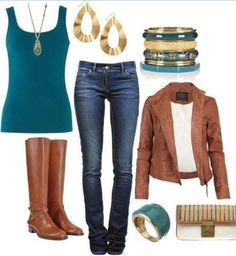 Real and brown fall outfit