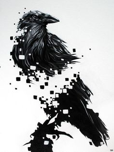 Raven Art Print by Jeremy Scott. All prints are professionally printed, packaged, and shipped within 3 - 4 business days. Choose from multiple sizes and hundreds of frame and mat options. Crow Tattoo Design, Tree Tattoo Designs, Crow Art, Raven Art, Badass Drawings, Cool Art Drawings, Forest Forearm Tattoo, Tattoo Chart, Dark Art Paintings