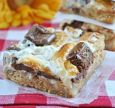 Nutter Butter S'mores Magic Cookie Bars | AllFreeCopycatRecipes.com