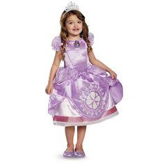 DISGUISE COSTUMES REF: 69823 PRINCESA SOFIA LUCES - Incluye vestido con amuleto que se prende con movimiento, baterias y corona. PRECIO COLOMBIA: 135.000