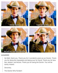 Thank you Matt for being our Eleven