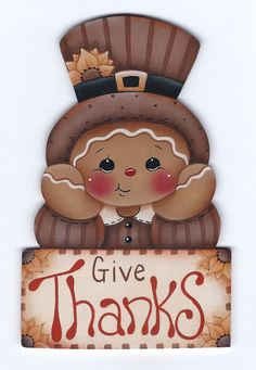 Give Thanks Gingerbread Painting E-Pattern par GingerbreadCuties