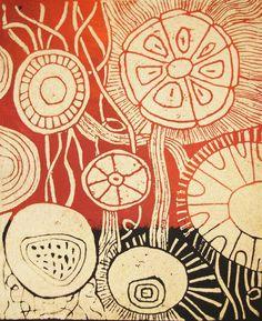 Nancy Desmond ~ original linocut print.