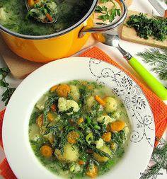 zupa , obiad , warzywa , młoda włoszczyzna , jarzyny , śmieciówka , zielenina , kalafior , kalarepka , szparagi ,