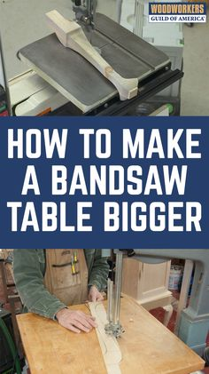 With bandsaw tables, make no mistake about it; bigger IS better. Bandsaws are powerful, versatile, and overall outstanding machines in most respects. But one area that bandsaws generally lack in is table size, with a typical bandsaw averaging less than 3-4 square foot of real estate. If you're like most woodworkers, you need more! Once you know how to use a bandsaw, it is easy to learn how to make a bandsaw table that is generously proportioned table for those situations that require it…