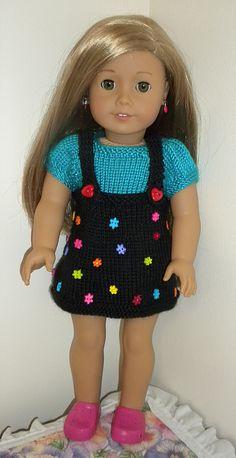 Black skirt / dress KNC & AMG   Dollie-Clothes free knitting doll patterns