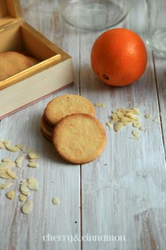 Marzipan and orange cookies