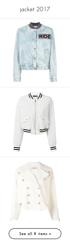 """""""jacket 2017"""" by sarabutterfly ❤ liked on Polyvore featuring outerwear, jackets, blue, blue cotton jacket, blue jackets, msgm, denim bomber jacket, flight jacket, white and white bomber jacket"""