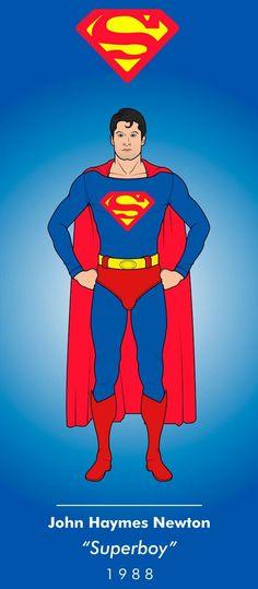 """Request for John Haymes Newton """"Superboy"""" 1988 © 2017 DC Entertainment. Superman Suit, Superman Love, Superman Symbol, Dc Comics Heroes, Dc Comics Art, Batman Comics, Superman Characters, Cartoon Characters, Superman Pictures"""