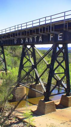 Santa Fe Railroad bridge at FS30 Arizona 2010