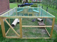 Pictures of your rabbit stables and outdoor enclosures - Rabbits - Forum by sweetrabbi . Rabbit Enclosure, Obelix, Bunny Cages, Rabbit Run, Pig Pen, Building A Chicken Coop, Rabbit Hutches, Pet Cage, Pictures Of You