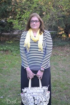 Plus Size Casual Stripes and Brights