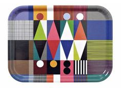 New midcentury-style graphic trays by Maria Holmer Dahlgren