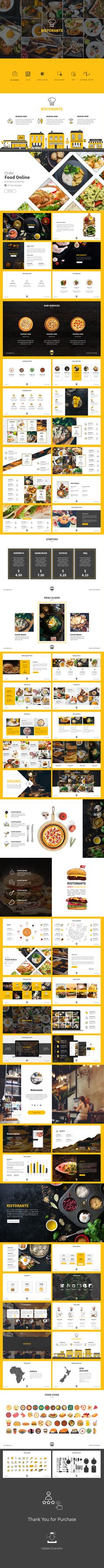 Ristorante - PowerPoint Presentation Template - 80+ Unique Custom Slides
