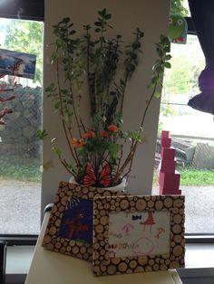 framed artwork and plants add a home like feel to classroom
