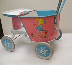 Vintage Ohio Art Tin Doll Stroller Mary Had by WildrosePrimitives Little Girl Toys, Little Doll, Toys For Girls, Doll Toys, Baby Dolls, Baby Buggy, Vintage Nursery, Raggedy Ann, Flea Markets