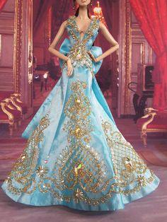 Amon Design Gown Outfit Dress Fashion Royalty Silkstone Barbie Model Doll FR | eBay Gala Dresses, Dress Outfits, Fashion Dresses, Barbie Gowns, Barbie Clothes, Barbie Fashion Royalty, Fashion Dolls, Barbie Model, Plus Size Gowns