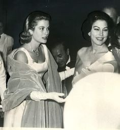Grace Kelly & Ava Gardner. Two of the most beautiful women Hollywood has ever seen in the same picture. How did the camera handle it?
